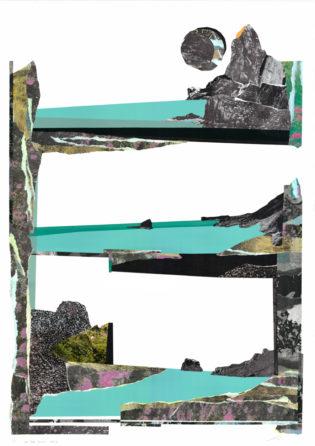 On The Barren Shore Paul Wardski Print Club London Screen Print