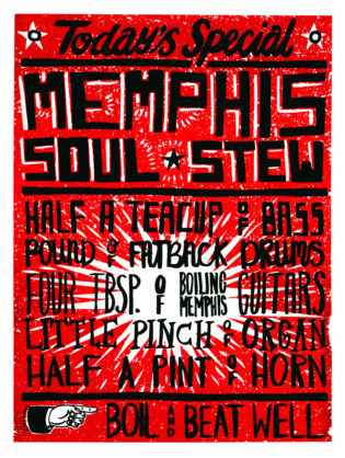 Soul Food Charlie Gould Print Club London Screen Print