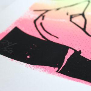 Hot Dog Ben Rider Print Club London Screen Print