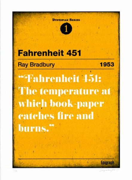 Fahrenheit 451 Serigrafica Print Club London Screen Print