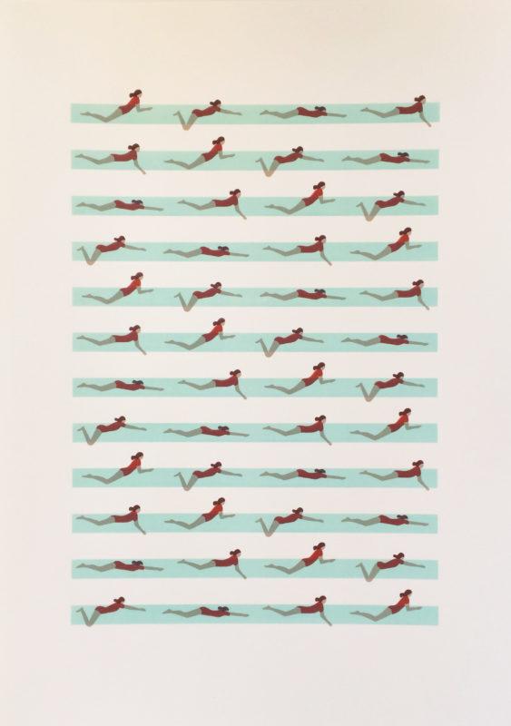 Swimmers Nadia Taylor Print Club London Screen Print