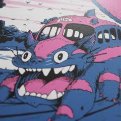 My Neighbour Totoro Joe Wilson Print Club London Screen Print