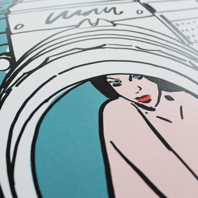 Blow Up Rose Stallard Print Club London Screen Print