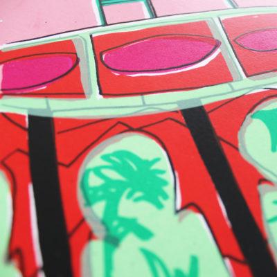 Bhaji On The Beach Rose Harris Print Club London Screen Print
