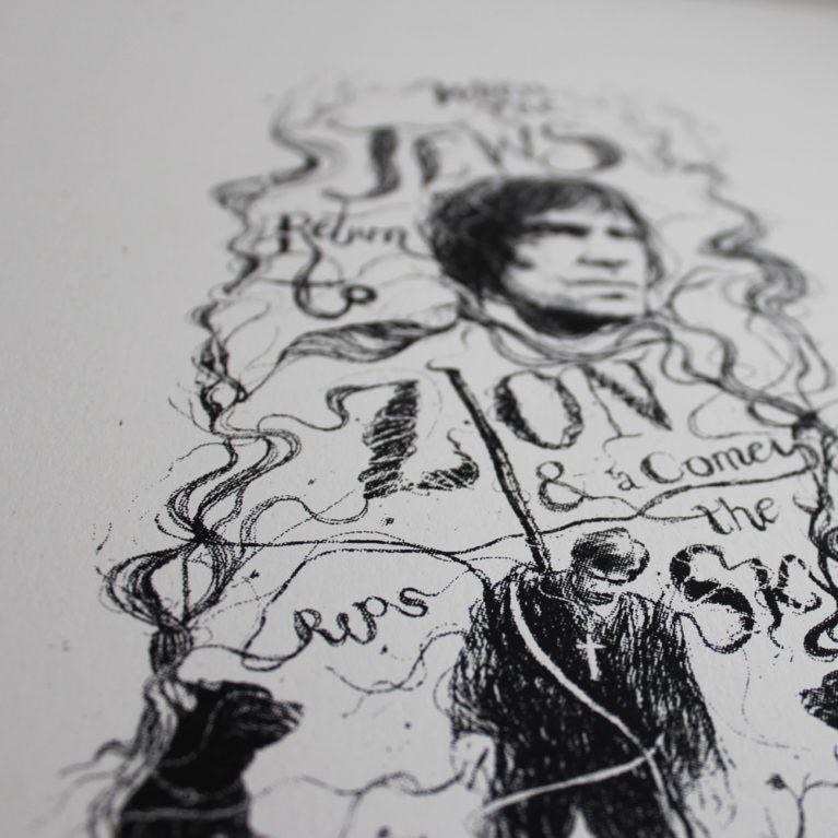 The Omen Peter Strain Print Club London Screen Print