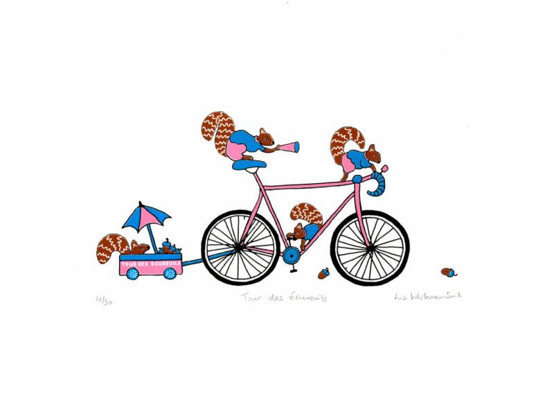 Tour des écureuils by Liz Whiteman Smith Print Club London Screen Print
