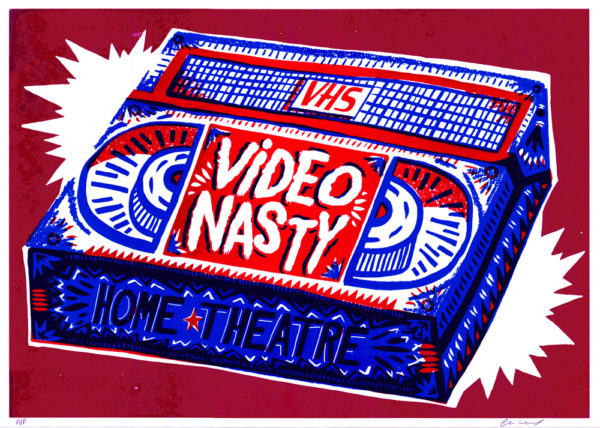 Video Nasty Charlie Gould Print Club London Screen Print