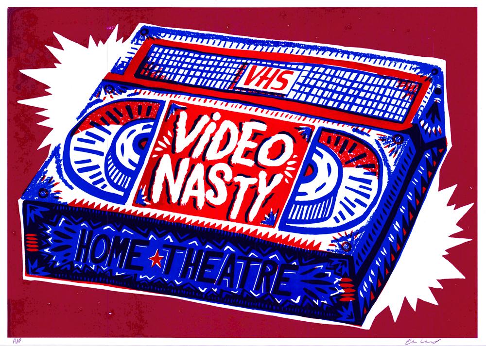 Video Nasty Charlie Gould Print Club London Screen Print