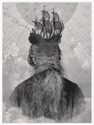 Lunar Seas Dan Hillier Print Club London Screen Print