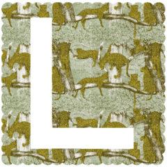 L is for Leopard Clare Halifax Print Club London Screen Print