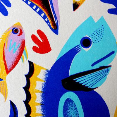 Fish & Shells Margaux Carpentier Print Club London Screen Print