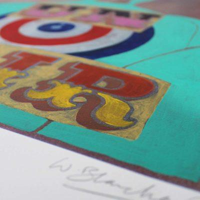 Unfair – Turquoise William Blanchard Print Club London Screen Print