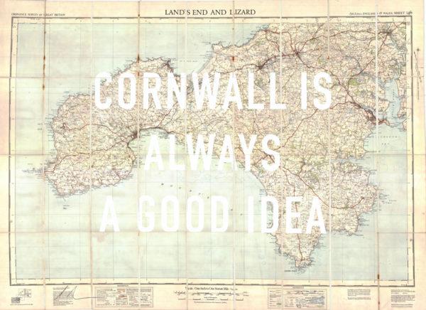 Cornwall is always a good idea Dave Buonaguidi Print Club London Screen Print