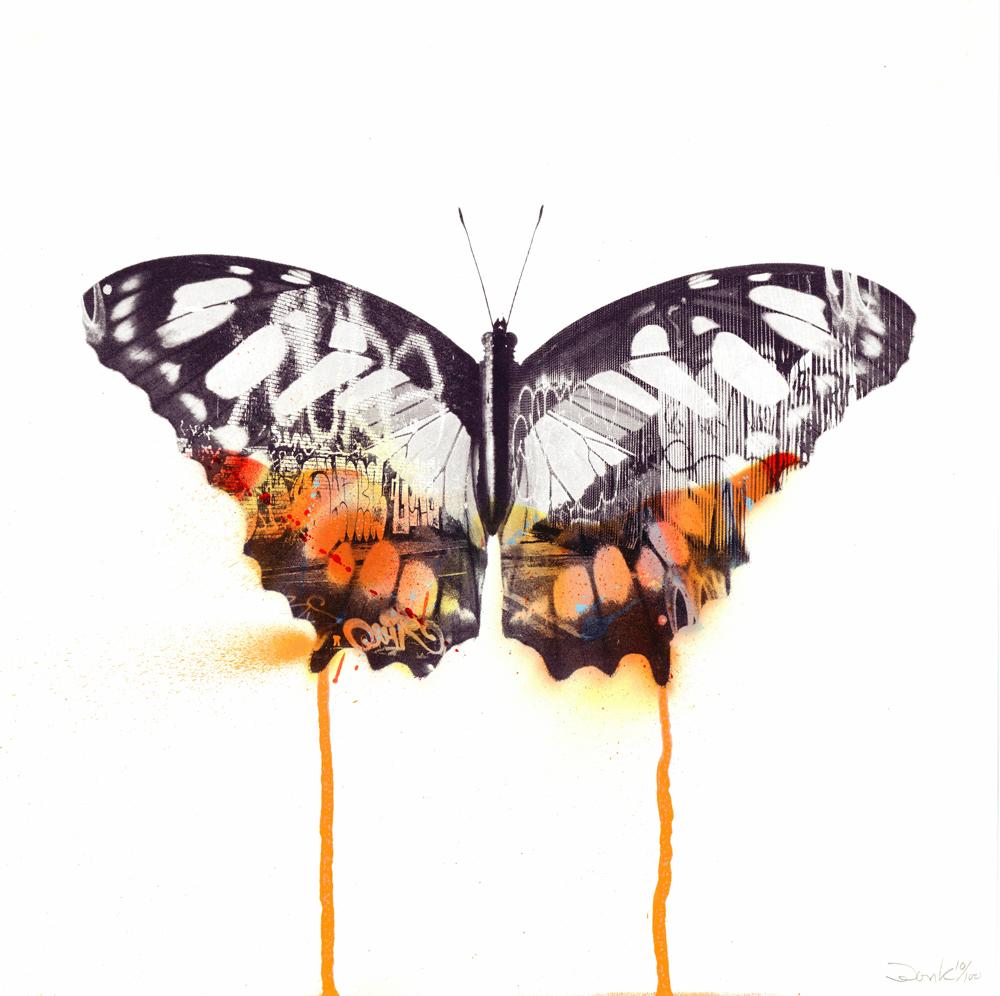 Graffiti Butterfly Donk Print Club London screenprint
