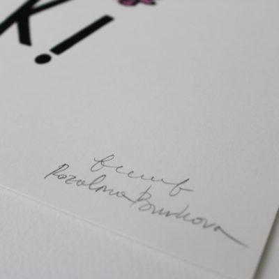 Ok! Francesca Tiley Rozalina Burkova Print Club London Screen Print