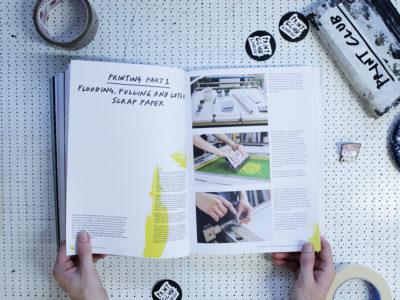 Sketchbook to squeegee Print Club London Book Screen Print
