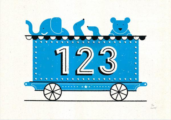 123 Train Josh Hurley Print Club London Screen Print