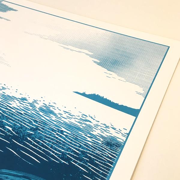 Fishing Boat Bobbing Sea Chris Keegan Print Club London Screen Print