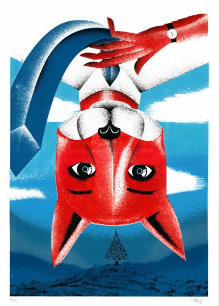 Fantastic Mr. Fox Tom Camp Print Club London Screen Print