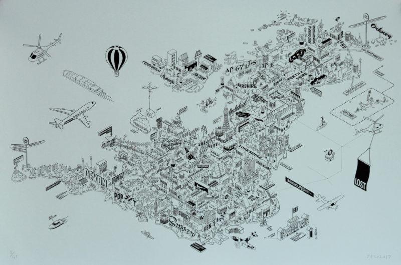 Shop On Every Corner by Jess Wilson Print Club London Screen Print