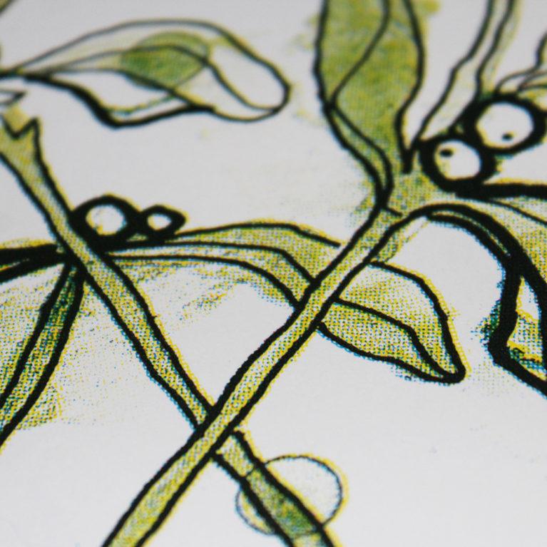 Mistletoe Gavin Dobson Print Club London Screen Print