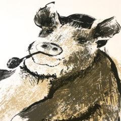 Animal Farm Tiff Howick Print Club London Screen Print