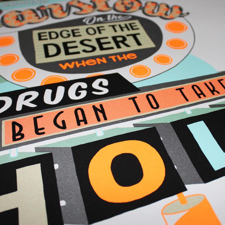 Fear and Loathing in Las Vegas Jess Wilson Print Club London Screen Print