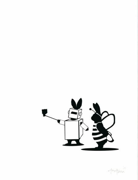 Fancy Dress Rabbit HAM Print Club London Screen Print