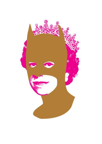 Rich Enough To Be Batman - Gold and Pink Print Club London Screen Print