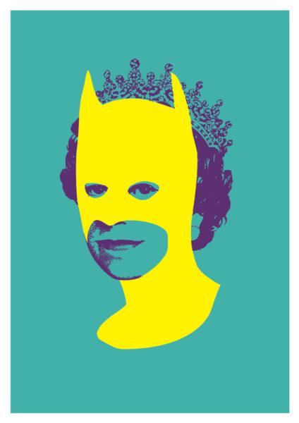 Rich Enough To Be Batman - Yellow and Aqua Print Club London Screen Print