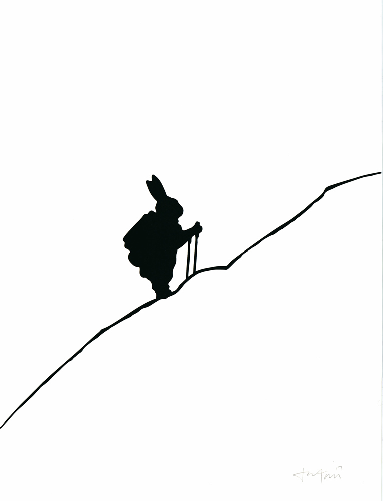 Hiking Rabbit HAM Print Club London Screen Print