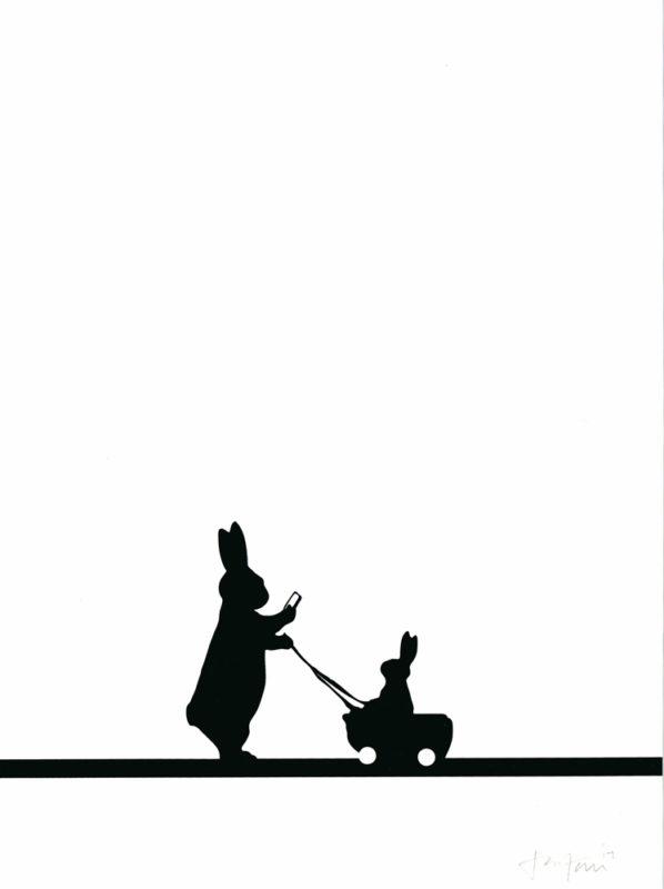 Insta Baby Rabbit HAM Print Club London Screen Print