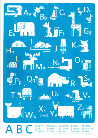 ABC Blue Josh Hurley Print Club London Screen Print