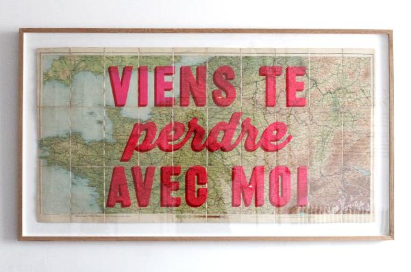 Let\'s Go Get Lost Together - France (Framed)   Print Club London
