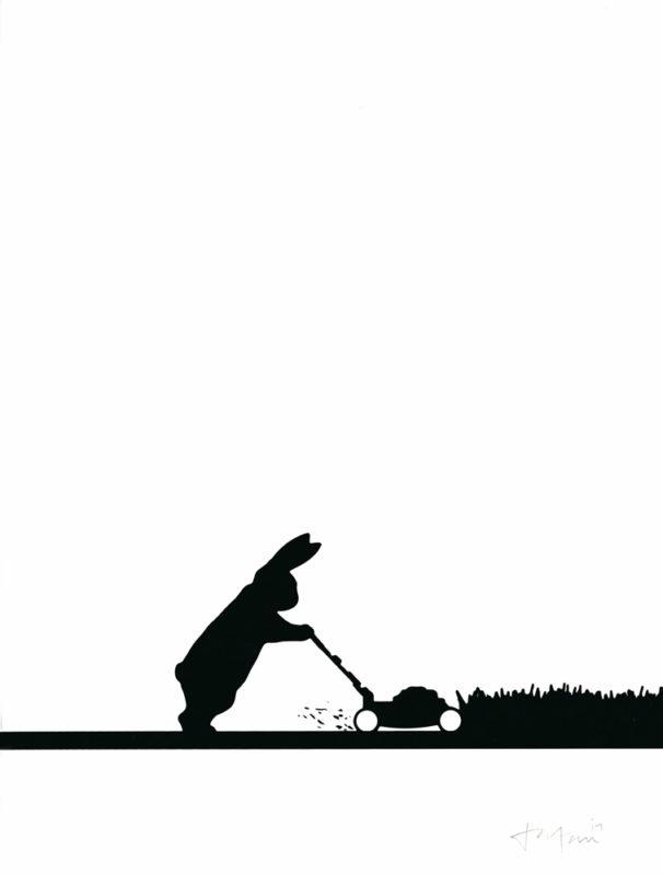 Mowing Rabbit HAM Print Club London Screen Print