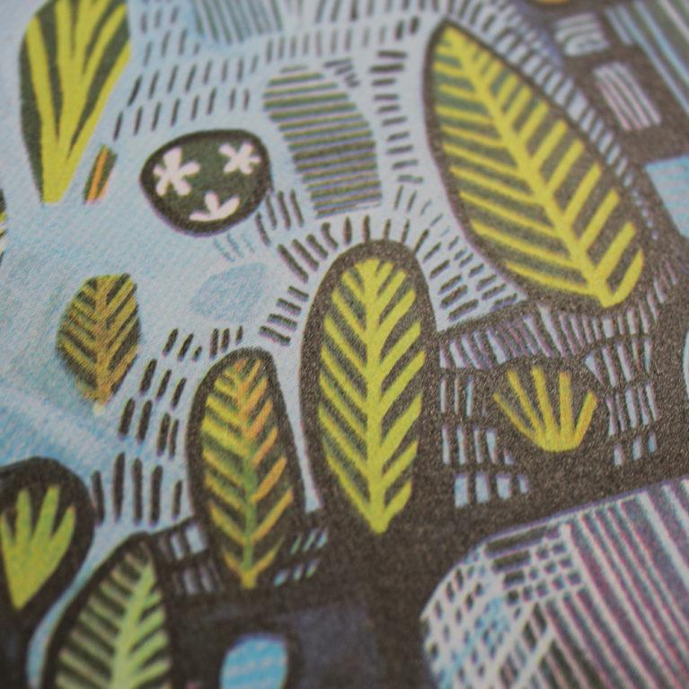 Pond and Plants Ashley Amery Print Club London Screen Print