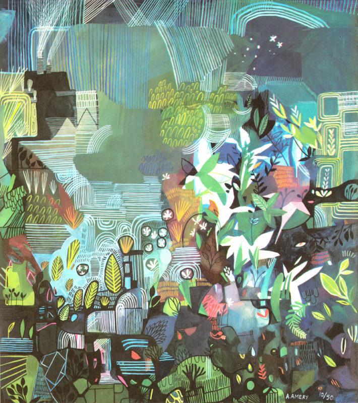 Ponds and Plants Ashley Amery Print Club London Screen Print