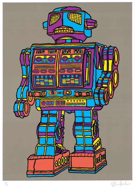 Robot Xtra 2 Oli Fowler Print Club London Screen Print