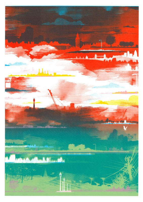Red Sky At Night Chris Keegan Print Club London Screen Print