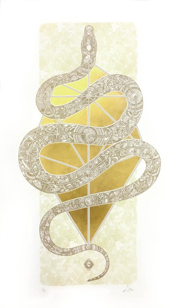The Diamond Headed Serpent 57Design Print Club London Screen Print