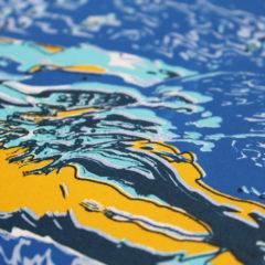 Swimmer Chris Keegan Print Club London Screen Print