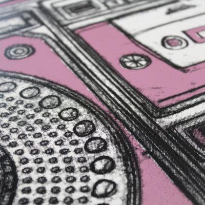 Boombox Oli Fowler Print Club London Screen Print