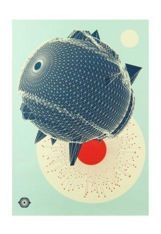 Outermost Blue Mark Charlton Print Club London Screen Print