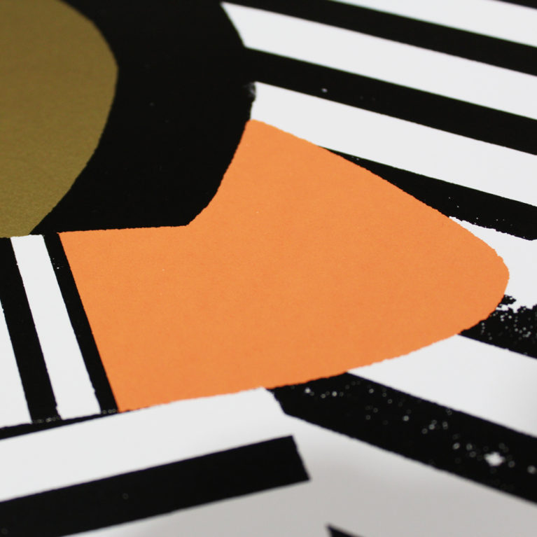 Get It On Black, White & Gold Paul Thurlby Print Club London Screen Print