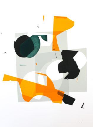 Monoprint 12 Jonathan Lawes Print Club London Screen Print