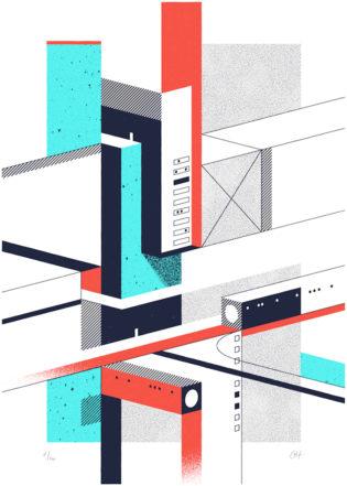 Vertical 1 Fabrice Le Nezet Print Club London Screen Print