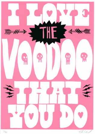 Voodoo Baby Charlie Gould Print Club London Screen PrintVoodoo Baby Charlie Gould Print Club London Screen Print