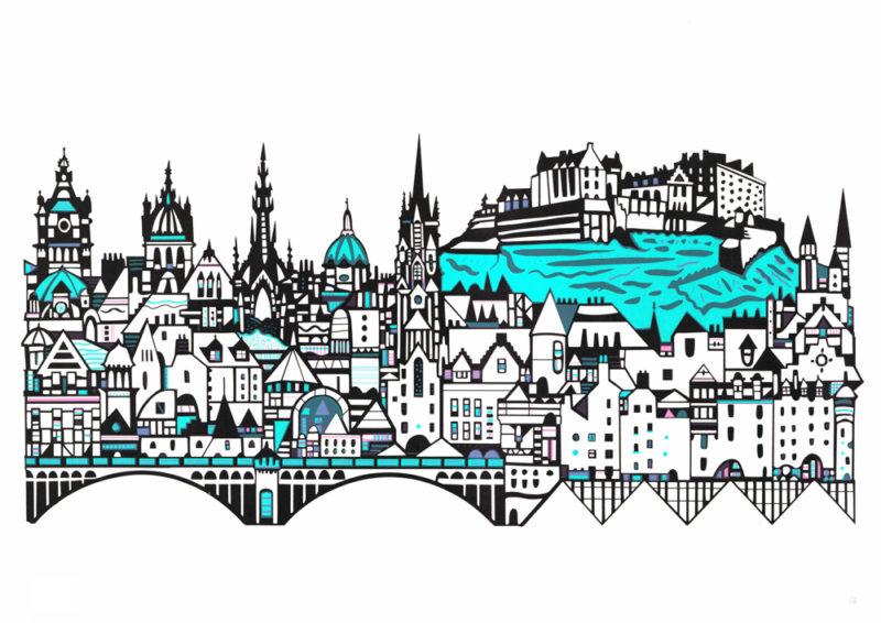 Edinburgh Skyline Susie Wright