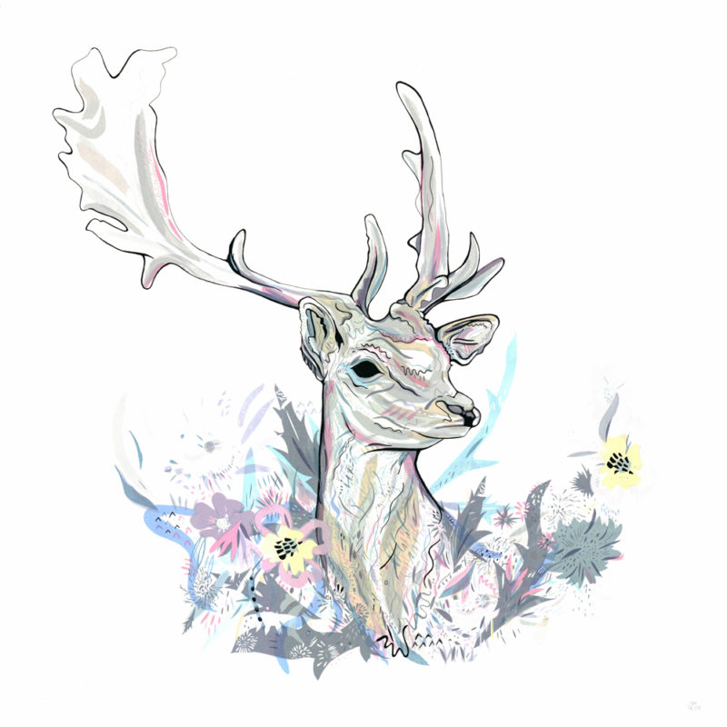 Floral Fawn Large Susie Wright