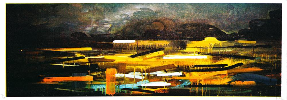 Night Sun Gavin Dobson Print Club London Screen Print